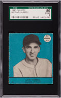 Baseball Cards:Singles (1940-1949), 1941 Goudey Carl Hubbell #20 SGC 80 EX/NM 6 - Pop One, Highest!...