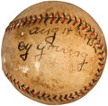 Autographs:Baseballs, 1932 Cy Young Single Signed Baseball....