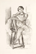 Prints:European Modern, HENRI MATISSE (French, 1869-1954). Danseuse au tabouret (fromDix danseuses), 1927. Lithograph. 18 x 11 inches (45.7 x 2...