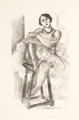 HENRI MATISSE (French, 1869-1954) Danseuse au tabouret (from Dix danseuses), 1927 Lithograph 18 x 11 inches (45.7 x 2