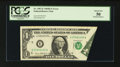 Error Notes:Foldovers, Fr. 1907-E $1 1969D Federal Reserve Note. PCGS About New 50.. ...