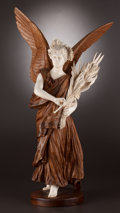 Fine Art - Sculpture, European:Antique (Pre 1900), A FRENCH CARVED WOOD AND IVORY FIGURE . After Jean Léon Gérôme(French 1824-1904), circa 1875-1900. Ivory attributed to Clov...
