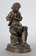 Bronze:European, A FRENCH PATINATED BRONZE FIGURAL GROUP . After Eugene-AntoineAizelin, Paris, France, circa 1880. Marks: E. AIZELIN,TIFF...