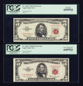 Small Size:Legal Tender Notes, Fr. 1534* $5 1953B Legal Tender Note. PCGS Very Choice New 64PPQ;. Fr. 1536* $5 1963 Legal Tender Note. PCGS Gem New 65PPQ... (Total: 2 notes)