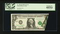 Error Notes:Foldovers, Fr. 1921-D $1 1995 Federal Reserve Note. PCGS Extremely Fine40PPQ.. ...
