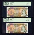 Canadian Currency: , BC-54a $20 1979 Four Examples.. ... (Total: 4 notes)