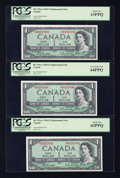 Canadian Currency: , BC-37bA-i $1 1954 Replacement Notes Eight Examples.. ... (Total: 8notes)