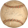 "Autographs:Baseballs, Circa 1927 ""Babe"" Ruth Single Signed Baseball...."