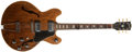 Musical Instruments:Electric Guitars, Early 1970s Gibson ES-150D Walnut Brown Electric Guitar,#397292....