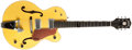 Musical Instruments:Electric Guitars, 2004 Gretsch G6118T-120 Yellow Electric Guitar, #JT04052554....