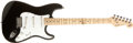 Musical Instruments:Electric Guitars, 1993 Fender Stratocaster Black Electric Guitar, #N3 87734....