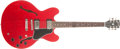 Musical Instruments:Electric Guitars, 2001 Gibson ES 335 Cherry Electric Guitar, #2121437....