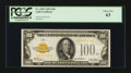 Small Size:Gold Certificates, Fr. 2405 $100 1928 Gold Certificate. PCGS Choice New 63.. ...