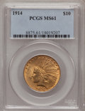 Indian Eagles: , 1914 $10 MS61 PCGS. PCGS Population (160/967). NGC Census:(420/997). Mintage: 151,050. Numismedia Wsl. Price for problem f...