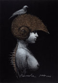 Latin American:Contemporary, ROBERTO FABELO (Cuban, b. 1950-). Caracola (Conch), 2003.Pastel on cardboard. 28-1/2 x 26-1/2 inches (72.4 x 67.3 cm). ...