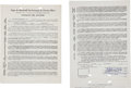 Autographs:Others, 1965-66 Roberto Clemente Signed Puerto Rican League Contract....