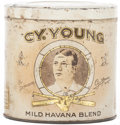 Baseball Collectibles:Others, Circa 1900 Cy Young Cigar Tin....
