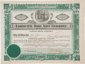 Baseball Collectibles:Others, 1876 Louisville Base Ball Company Stock Certificate....