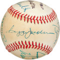 Autographs:Baseballs, Early 1980's 500 Home Run Club Signed Baseball....