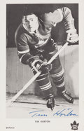 Hockey Collectibles:Photos, Circa 1960's Tim Horton Signed Postcard....