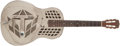Musical Instruments:Resonator Guitars, 1929 National Tricone Nickel Resophonic Guitar, #0211....