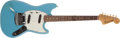 Musical Instruments:Electric Guitars, 1965 Fender Mustang Daphne Blue Electric Guitar, #L58399....