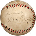 Autographs:Baseballs, 1933 KiKi Cuyler Single Signed Baseball....