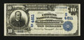 National Bank Notes:West Virginia, Martinsburg, WV - $10 1902 Plain Back Fr. 628 The Citizens NB Ch. #(S)4811. ...
