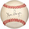 Autographs:Baseballs, 1970's Ken Boyer Single Signed Baseball....