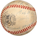 Autographs:Baseballs, 1954 Montreal Royals Team Signed Baseball with Roberto Clemente....