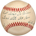 Autographs:Baseballs, 1947 Will Harridge Single Signed Baseball....