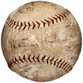 Autographs:Baseballs, 1924 World Series Game Used Baseball Signed by Walter Johnson, Hughie Jennings, Ross Youngs....