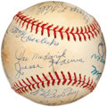 Autographs:Baseballs, 1970's Hall of Famers Multi-Signed Baseball with Grove, Paige....