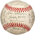Autographs:Baseballs, 1972 New York Yankees Team Signed Baseball, PSA NM 7....