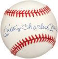 Autographs:Baseballs, 1980's Mickey Charles Mantle Single Signed Baseball. ...