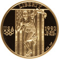 1992-W G$5 Olympic Gold Five Dollar PR70 Ultra Cameo NGC. NGC Census: (981). PCGS Population (235). Mintage: 77,313. Num...