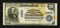 National Bank Notes:Tennessee, Johnson City, TN - $20 1902 Plain Back Fr. 659 Tennessee NB Ch. #11839. ...
