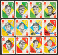 Baseball Cards:Sets, 1951 Topps Baseball Blue Back Complete Set (52) - With Thirty Signed Cards and Wrapper! ...