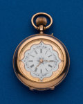 Timepieces:Pocket (post 1900), Matile, 14k Gold, 32 mm, Open Face. ...