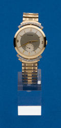 Timepieces:Wristwatch, Bulova, 14k Gold Diamond Lug Manual Wind Wristwatch. ...
