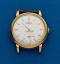 Timepieces:Wristwatch, Omega, Bumper Automatic, 18k Gold Wristwatch. ...