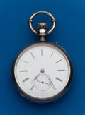 Timepieces:Pocket (post 1900), Droz & Perret, 54 mm, Silver Pocket Watch. ...