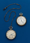 Timepieces:Pocket (post 1900), Two - 12 Size Pocket Watches, Elgin & Waltham. ... (Total: 2 Items)