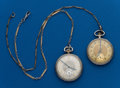 Timepieces:Pocket (post 1900), Two - Elgin & Waltham, 12 Size With Chains. ... (Total: 2Items)
