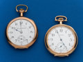 Timepieces:Pocket (post 1900), Two - Waltham & Hampden, 12 Size Pocket Watches. ... (Total: 2Items)