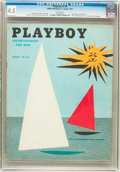 Magazines:Vintage, Playboy #9 (HMH Publishing, 1954) CGC VG+ 4.5 White pages....