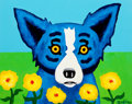 Paintings, GEORGE RODRIGUE (American, b. 1944). Blue Dog. Acrylic on canvas. 11 x 14 inches (27.9 x 35.6 cm). Signed lower right: ...