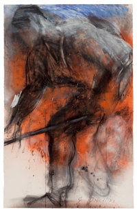 JIM DINE (American, b. 1935) Drawing from Van Gogh III, 1983 Mixed media on paper 72 x 46 inches
