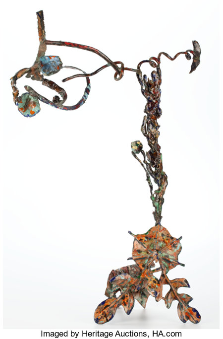 NANCY GRAVES (American, 1940-1995) Aspira, 1984 Bronze with baked enamel 35-1/2 x 21-1/2 x 11 inches (90.2 x 54.6 x 2...