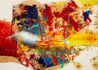 GERHARD RICHTER (German, b. 1932) Untitled, 3.3.1986 Oil on paper 23-3/4 x 33-1/4 inches (60.3 x
